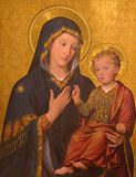 TURIN, ITALY - MARCH 13, 2017: The painting of Madonna with the Child in church Chiesa di San Giuseppe by Enrico Reffo 1909 Royalty Free Stock Photo