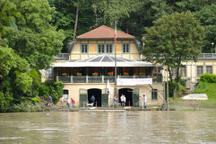 Clean after flooding on river Po on May 31, 2008 Royalty Free Stock Photography