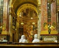 Golden interior of Santuario della Consolata Stock Photo