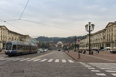 Turin, Italy - November 2016: Piazza Vittorio Veneto, a city squ. Are in Turin, Italy Royalty Free Stock Images