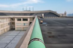 Old Fiat Factory in Turin Italy, built in the 1920s. On the roof the original test track still exists and is open to the public. Turin, Italy. The old Fiat stock photography