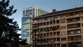 The skyscraper, headquarters, of the Intesa - SanPaolo bank. Turin, Italy, Piedmont. 13 April 2018. The skyscraper, headquarters, of the Intesa - SanPaolo bank stock video