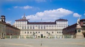Turin, Italy - Royal palace. Facade of the Royal Palace in Turin, Italy Royalty Free Stock Photo