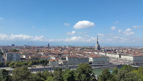 Turin skyline with mole antonelliana and Po river Royalty Free Stock Photo