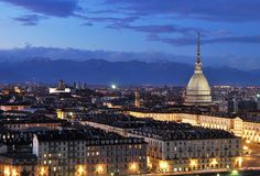 Turin landscape. Taken from Monte dei Cappuccini Stock Images