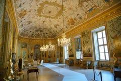 Turin le pavillon de chasse de Stupinigi image stock