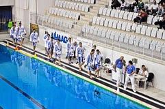 Wasserballmatch Torino81 gegen Lavagna90 Stockfotografie
