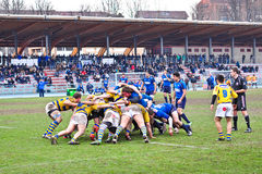 Second Derby della Mole between Cus Torino and Rugby Torino Stock Photography
