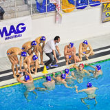 Water polo match Torino81 Vs Como Nuoto Stock Photography