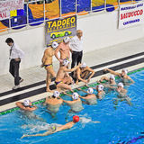 Water polo match Torino81 Vs Como Nuoto Royalty Free Stock Image