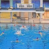 Water polo match Torino81 Vs Como Nuoto Royalty Free Stock Image