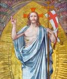 Turin - o fresco da ressurreição do senhor em pouca capela Capella Pinardi Fotografia de Stock Royalty Free