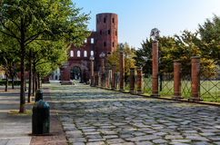 Turin, Palatina Gate Lizenzfreie Stockfotos