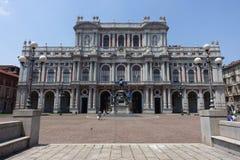 Turin Palazzo Carignano, palais de Carignano Photos stock