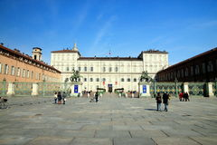 Turin Palazzo Reale Royalty Free Stock Photos