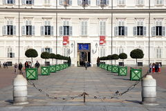 Turin Palazzo Reale Stock Photography