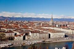 Turin-panoramische Ansicht lizenzfreies stockbild