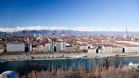 Turin-panoramische Ansicht lizenzfreie stockbilder