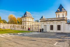 Turin, Piémont, Italie, le 1er novembre 2017 Valentino Castle, Turi Photographie stock libre de droits