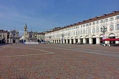 Turin piazza San Carlo Fotografering för Bildbyråer