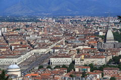 Turin Piazza Vittorio Photographie stock libre de droits