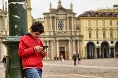 Turin, Piedmont, Italien April 2019 Marktplatz San Carlo lizenzfreies stockfoto
