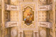 Turin Piedmont, Italien, 06 Januari 2016 Detalj av det målade cet Arkivbilder