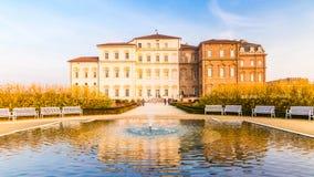 Turin Piedmont, Italien, 01 November 2017 Verkliga Reggia av Venaria royaltyfri bild