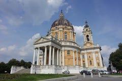 Turin The basilica of Superga royalty free stock photos
