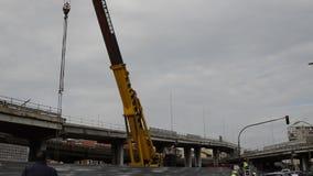 Turin, Piedmont, Italy 21 de maio de 2018 A demolição da passagem superior de Corso Grosseto video estoque