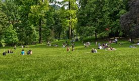 Turin, Piedmont, Italy.June 2018. At the Valentino park stock images