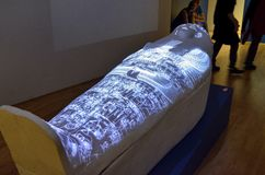 Egyptian museum, high-tech exhibition stock photos