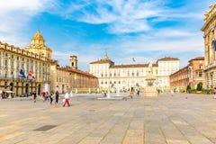 Turin, Piedmont, Italy, 06 September 2017. Facade of Royal Palac Stock Photo