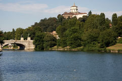 Turin Po River Royalty Free Stock Photo