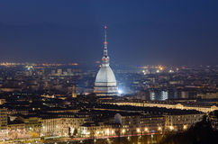 Turin scenic view with Mole Antonelliana Royalty Free Stock Images