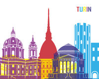 Turin skyline pop Royalty Free Stock Image
