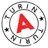 Turin stamp rubber grunge Royalty Free Stock Photo