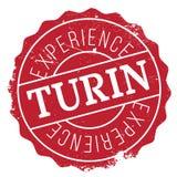 Turin stamp rubber grunge Stock Photo