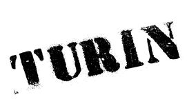 Turin stamp rubber grunge Royalty Free Stock Images