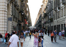 Turin Street view Royalty Free Stock Images