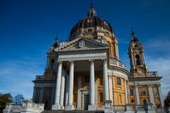Turin Superga Church Royalty Free Stock Image