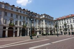 Turin Teatro Carignano, teathre Carignano imagem de stock royalty free