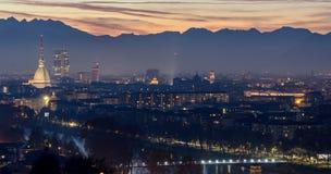 Turin Torino beautiful landscape with Mole Antonelliana Stock Image