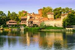 Turin (Torino), Borgo Medievale Image stock