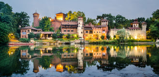 Turin (Torino), Borgo Medievale Photo stock