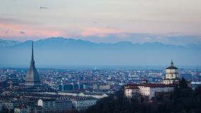 Turin (Torino) HD timelapse panorama stock video