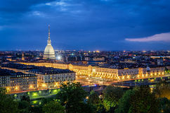 Turin (Torino), high definition panorama with Mole Antonelliana Royalty Free Stock Images