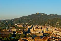 Turin (Torino), Italien, panorama- sikt på kullar och Royaltyfria Bilder