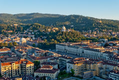 Turin (Torino), Italy, panoramic view on Piazza Vi Royalty Free Stock Photography