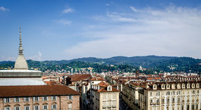 Turin (Torino), Mole Antonelliana and hills Stock Photography